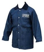 Men's Real Prison Yard Jacket Navy Blue Lined Denim Collar Lowbrow Art C... - $98.00