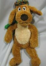 "15"" Kohls Dr Seuss GO DOG GO Brown Plush Dog w/ Scarf Plaid Hat New Version 2014 - $14.84"