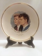 John F. Kennedy and Robert Kennedy Vintage Souvenir collector's plate - $7.91