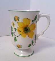 Royal Victoria Fine Bone China Yellow Dogwood Flower Butterfly Footed Mu... - $19.79