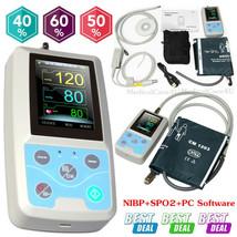24Hour Ambulatory Blood Pressure Monitor PM50 SPO2 NIBP Patient monitor+... - $98.01