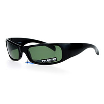 Mens Polarized Lens Sunglasses Classic Rectangular Wrap Around UV 400 - $12.95