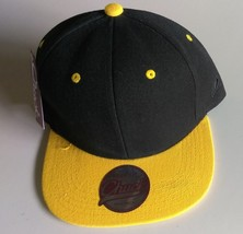 New Original Chuck Black Yellow Casual Hat Cap Snap-Back One Size New - £14.46 GBP