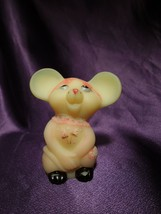 Fenton Hand Painted Burmese Mouse Nancy Fenton Glass Art Artist Signed - $64.35