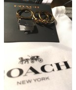 NWT Coach X Pac-Man Ghost 3 Stack Ring Set Gold-Plated Brass Size 5 F73026 $95 - $41.58