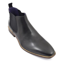 Handmade Men Black Leather Chukka boots Men Lace up casual boots Men ankle boots - $179.99
