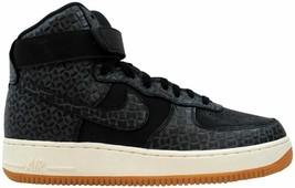 Nike Air Force 1 Hi Premium Black/Black-Gum Medium Brown-Sail 654440-009 Size 10 - $110.00