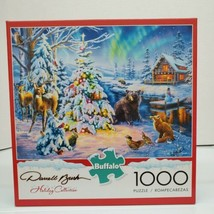 """Darrell Bush Holiday Collection ~ """"Woodland Christmas"""" ~ 1000 Piece Puzz... - $19.99"""