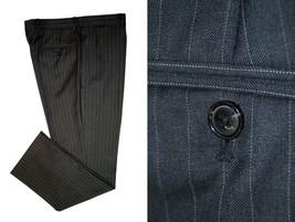 Tommy Hilfiger 34x31 Gray Pinstripe Dress Pants Trouser - $19.92