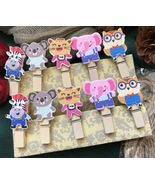 Kids art display clothespin,paper wood clips,Easy fit childrens art work... - $3.20+