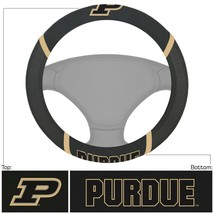 Fanmats NCAA Purdue Boilermakers Embroidered Steering Wheel Cover Del. 2-4 Days - $18.31