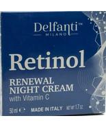 New Sealed in Box Retinol Renewal Night Cream with Vitamin C by Delfanti... - $11.88