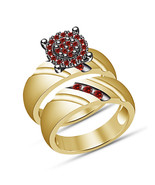 Christmas Gifts For Girls 925 Silver Round Red Garnet Girls Engagement R... - $72.56