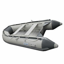 BRIS 10.8 ft Inflatable Boat  Raft Fishing Dinghy Tender Pontoon Boat Gray  image 5