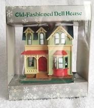 Vintage 1986 Enesco Christmas Tree Ornament Old Fashioned Doll House - $12.95