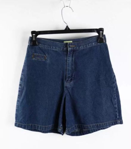 Caslon Petite Blue Denim Mid-Wash High-Rise Shorts 0P