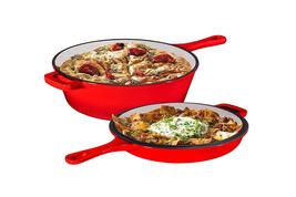 Enameled 2-In-1 Cast Iron Multi-Cooker By Bruntmor - $87.99