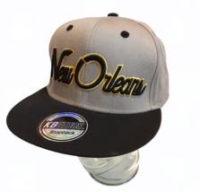New Orleans City KBETHOS Snapback Cap Gray & Black Premium Headwear Cotton - $6.99
