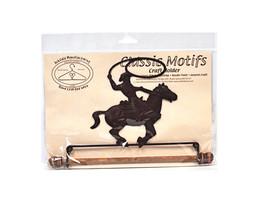 Klassisch Motive Cowboy auf Pferd 19.1cm Stoff Halter mit Dübel - $21.37
