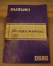 Vintage Suzuki Owner's manual DS80 1982 Motorcycle  Dirt Bike Motorcycle - $5.93