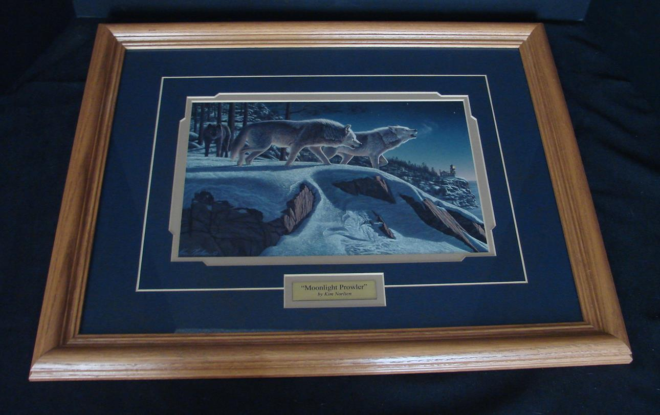Kim Norlein Midnight Prowlers (Wolves) Framed