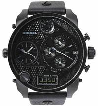 LATEST DIESEL DZ7193 Watch Daddy Chronograph OverSized Leather Strap MEN... - $195.26 CAD