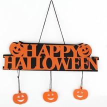 HAPPY Hangtag Window Decoration Halloween Pumpkin Hanging - $5.85