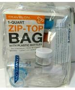 7 Pc Cosmetic Travel Kit Clear Jar Toiletry Bag Organizer Bottles Spray ... - $7.83
