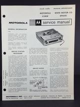 Motorola White Motor Company Auto Radio Service Manual Model U3MW - $14.84