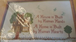 VINTAGE THE CREATIVE CIRCLE #1607  VICTORIAN HOUSE COUNTED CROSS STITCH - $9.99