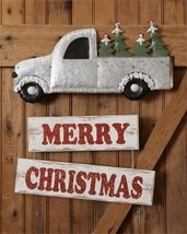Merry Christmas Truck Wall or Door Hanging Decor - $26.99