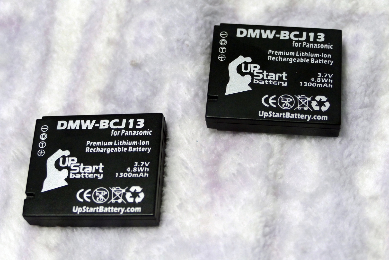 Lot of 2 Panasonic Lumix Batteries DMW-BCJ13 Used Good Condition Free Shipping