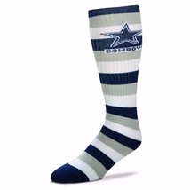 NFL Dallas Cowboys Striped Knee High Hi Tube Socks One Size Fits Most Adults - $7.95