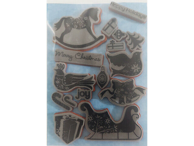 Christmas Icons Rubber Cling Stamp Set