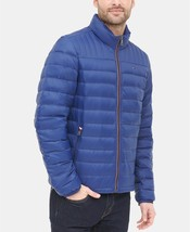 Tommy Hilfiger Men's Down Quilted Packable Logo Jacket Deep Blue - $97.50