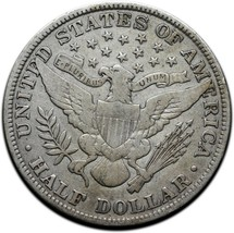 1913 Silver Barber Half Dollar Coin Lot A 360 image 2