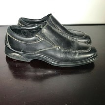 Cole Haan NikeAir Mens Size 10 M, Black Leather Apron Toe Slip On Loafers - $20.79