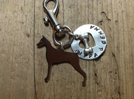 Doberman Pinscher Custom Keychain Dog Lover Dobie. Doberman jewelry.  memorial. - $18.00