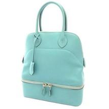 HERMES Bolide Secret Veau Swift Blue Saint Cyr Handbag France 2015 #T Au... - $5,575.95