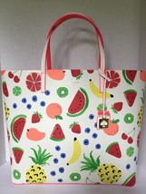 KATE SPADE NWT LEATHER EXTRA LARGE LEN FRUIT MEDLEY HOW REFRESHING TOTE BAG - $245.00