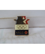 1984 Summer Olympic Games Sponsor Pin - Arco Gas - Celluloid Pin   - £10.97 GBP