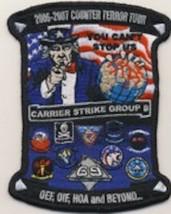 """5.25"""" USN NAVY CVN-69 OIF/OEF COUNTER TERROR USS EISENHOWER EMBROIDERED ... - $18.99"""