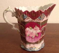 Antique HAND PAINTED FLORAL CHRYSANTHEMUM PITCHER / CREAMER - Signed Shi... - $79.19