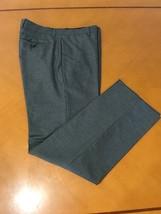 Men's Banana Republic Stripped Gray Wool & Cotton Dress Pants 32 x 32 - $29.69