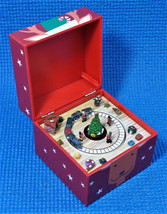 "Mr Christmas REINDEER ""Deck the Halls"" Pom Pom Music Box ~ Used - $13.98"