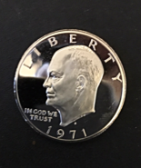 1971 Eisenhower Dollar, Mint, Proof, Cameo, Clean, Tough, Uncirculated. - $14.00