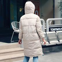 New Women's Casual Hooded Long Soft Quilted Down Zip Up Coat Outwear image 4