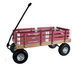 HEAVY DUTY LOADMASTER HOT PINK WAGON - Beach Garden Utility Cart AMISH U... - $287.07