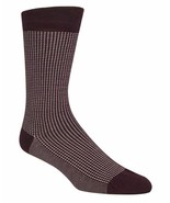 COLE HAAN Mens Crew Socks Soft Checked Red 1 Pair $12.50 - NWT - $4.94