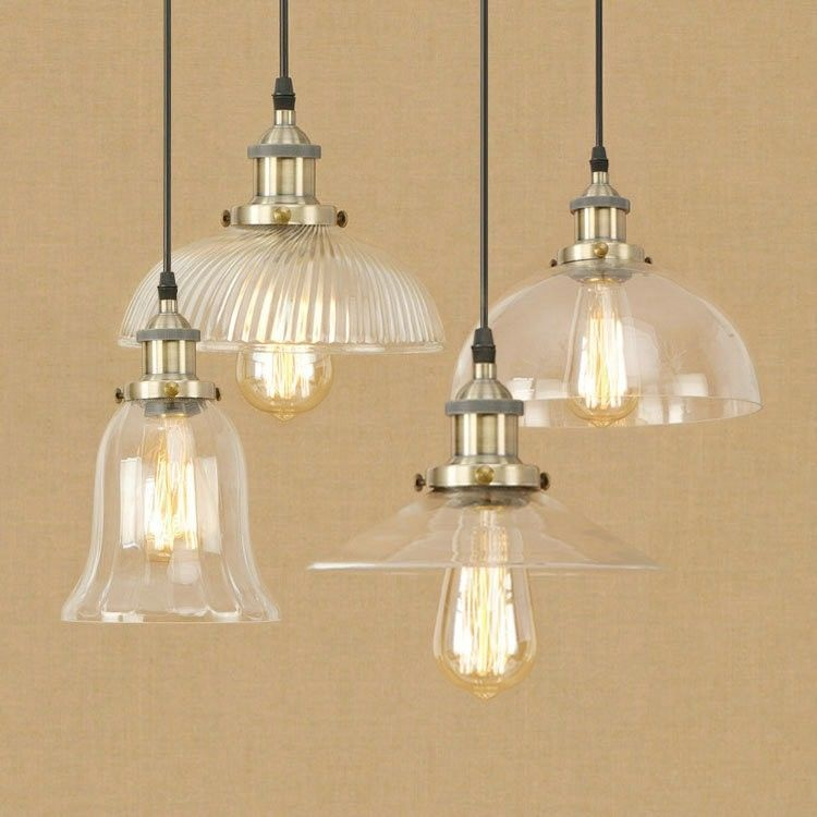 Primary image for 20th C. Clear Glass Filament Pendant E27 Light Ceiling Lamp Home Cafe Lighting